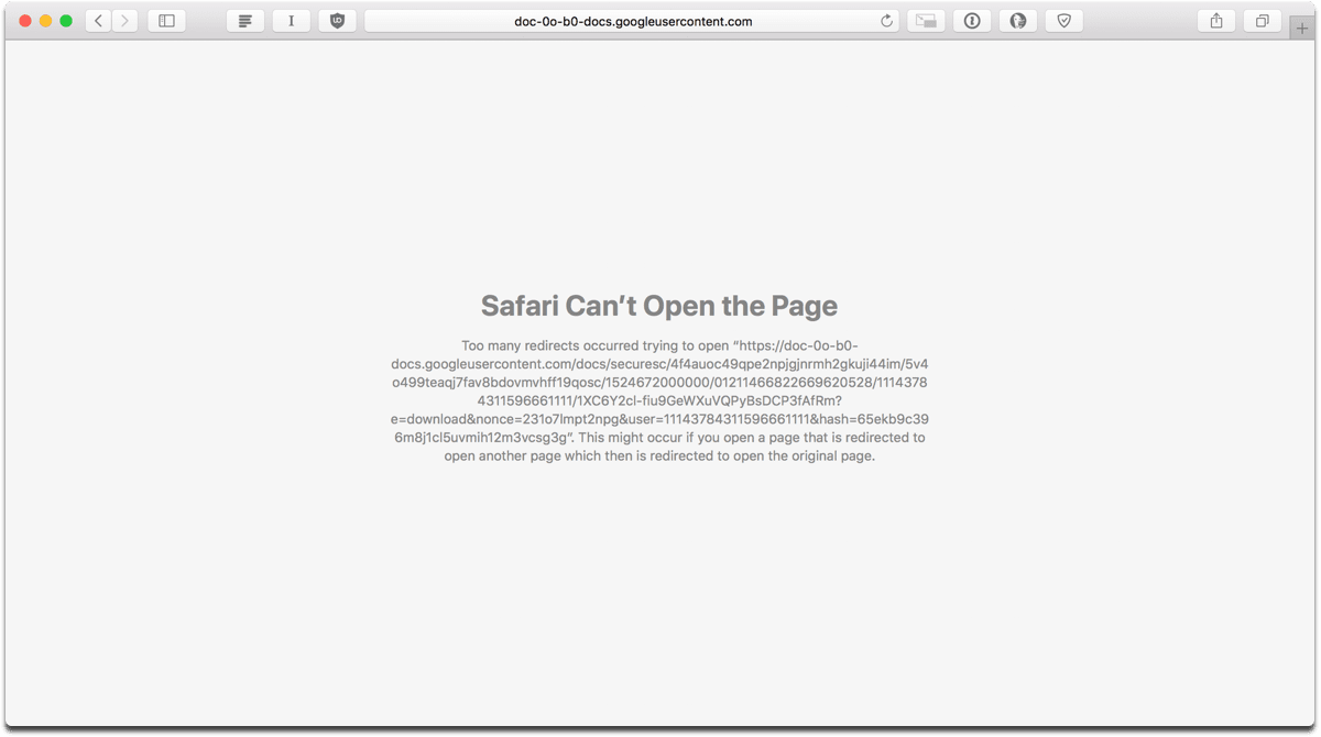 Psa if you get a too many google drive redirects error in safari clearing website data ccuart Gallery