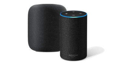 Apple HomePod and Amazon Echo