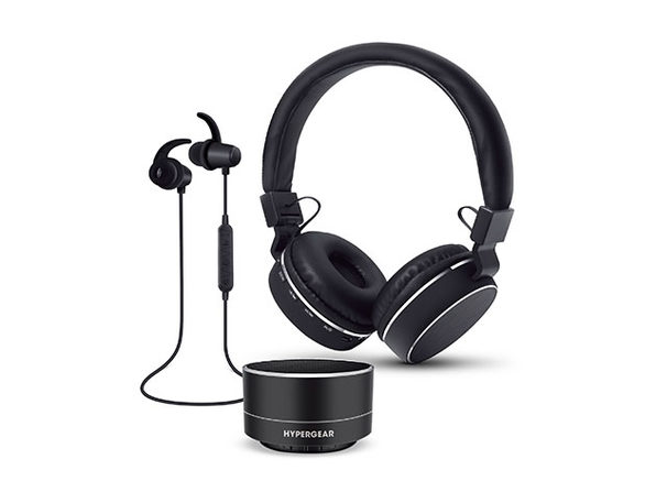 HyperGear Wireless Gift Set with Headphones, Earbuds, and Bluetooth Speaker: $44.99