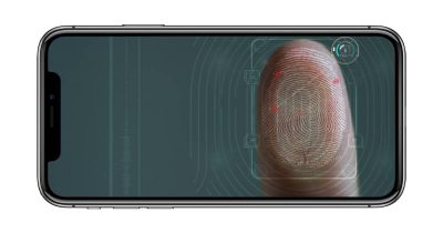 iPhone with fingerprint on screen