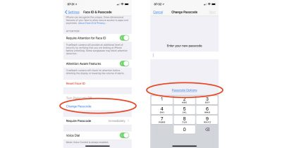 iOS 11 Passcode settings on iPhone