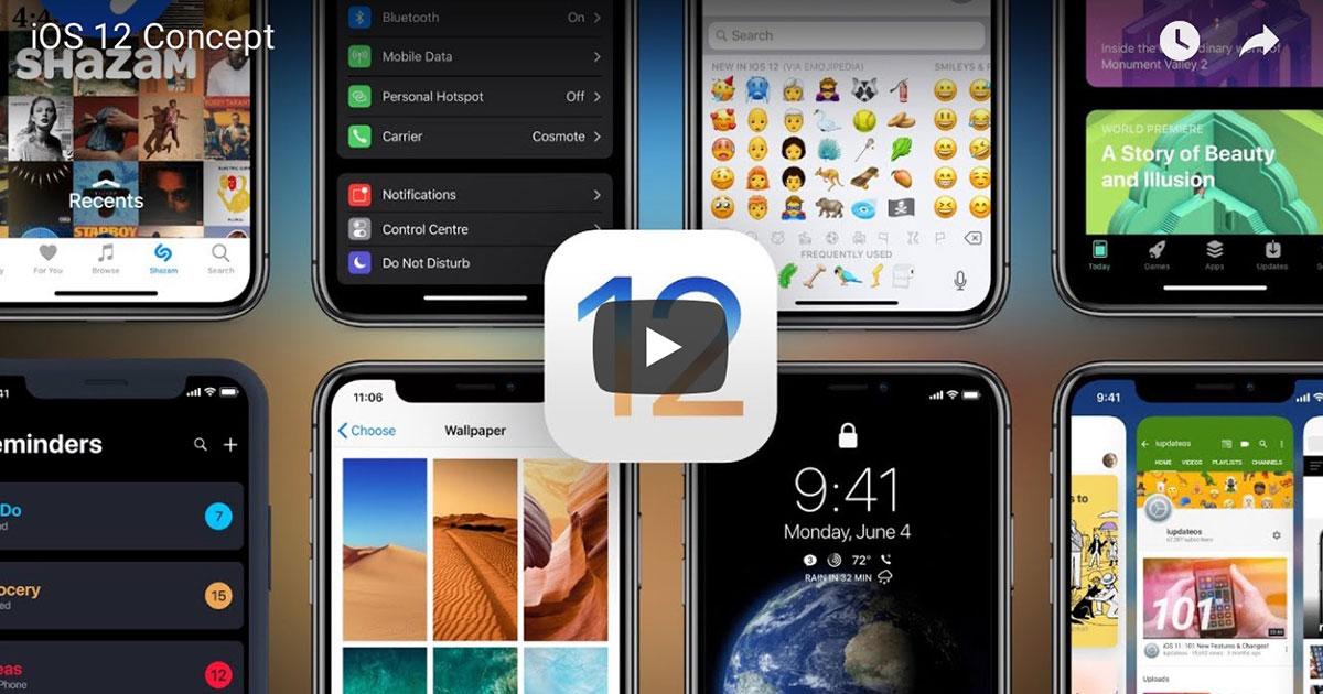 iOS 12 Concept Video Screenshot