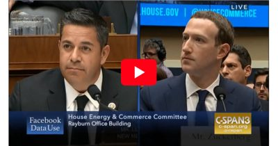 Rep. Ben Lujan questions Mark Zuckerberg about Facebook privacy policies in Congressional hearing