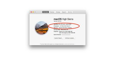 macOS About window showing processor model