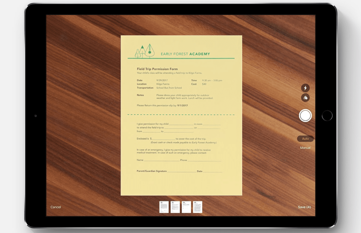 Screenshot of Apple Notes, which you can use to manage PDFs.