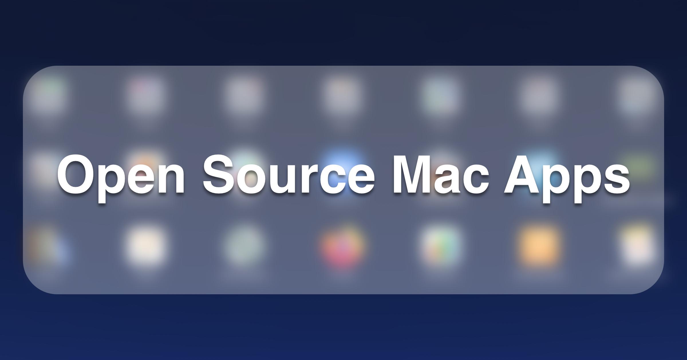 open source mac apps