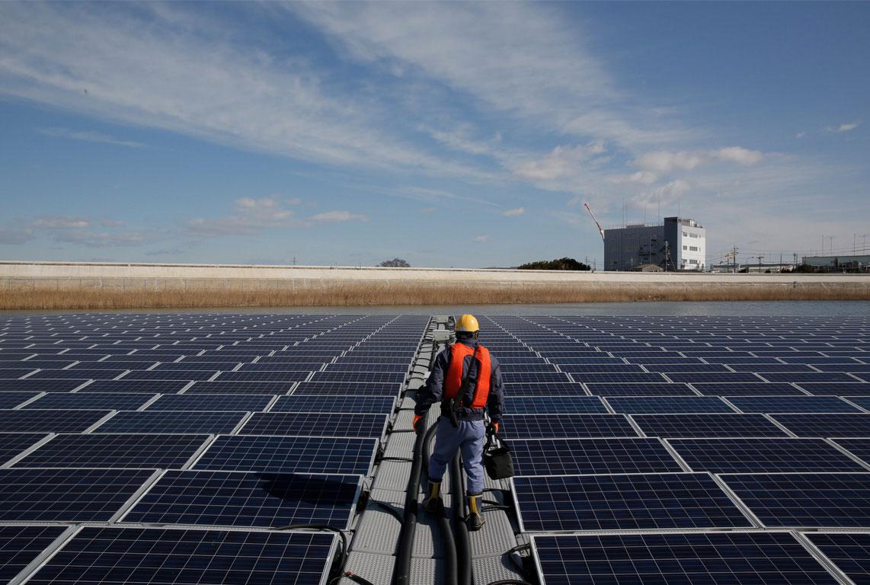 This is Apple supplierIbiden's solar farm outside Nagoya Japan