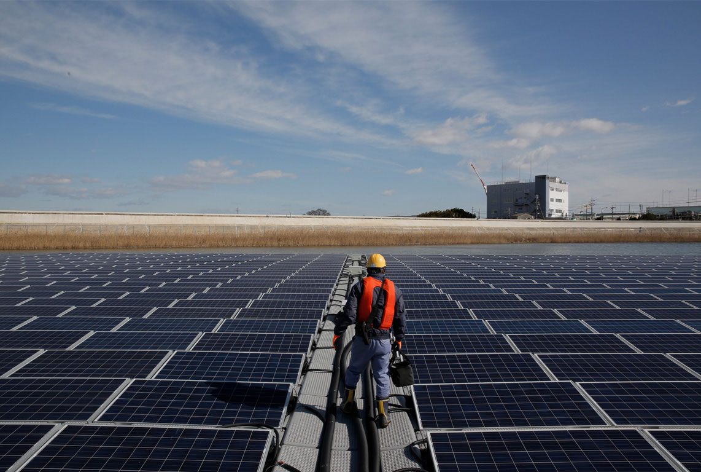 This is Apple supplierIbiden's solar farm outside Nagoya, Japan