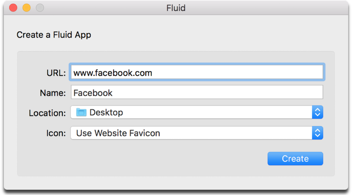 Sandbox Facebook with Fluid.