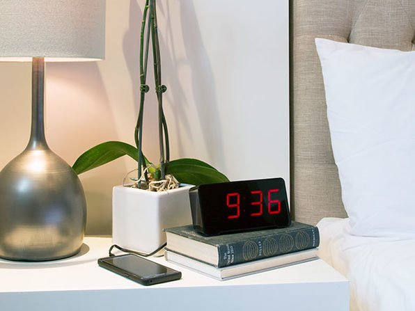 Sandman Alarm Clock Has Big Numbers and 4 USB Ports