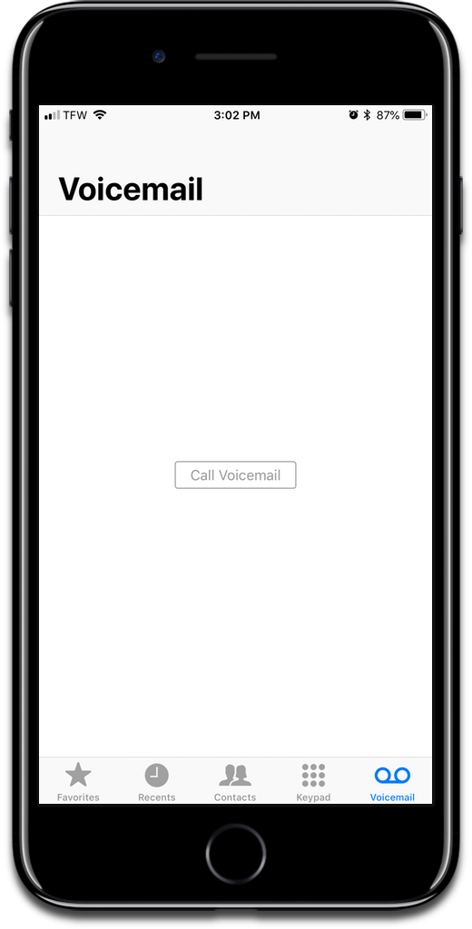Set up iPhone voicemail in the Phone app.
