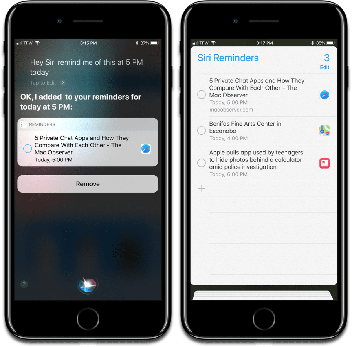Former Google AI chief has control of Siri now, as pictured here.