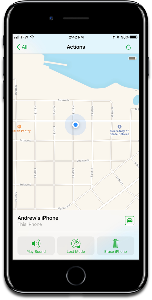 Turning on Find My iPhone can help you locate your stolen iPhone.