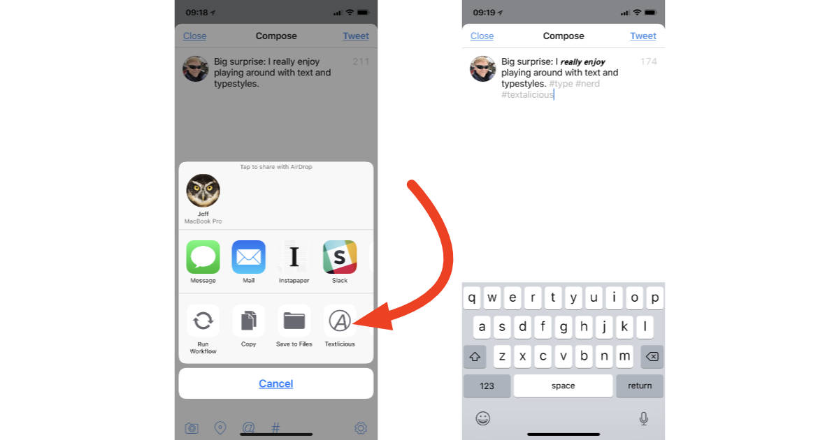 Add Cool Text Styles to Your Tweets with Textlicious for the iPhone and iPad