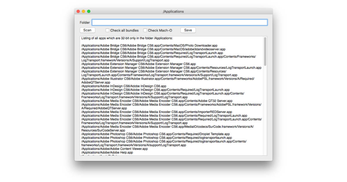 Check Your Mac for 32-bit Apps with 32-bitCheck