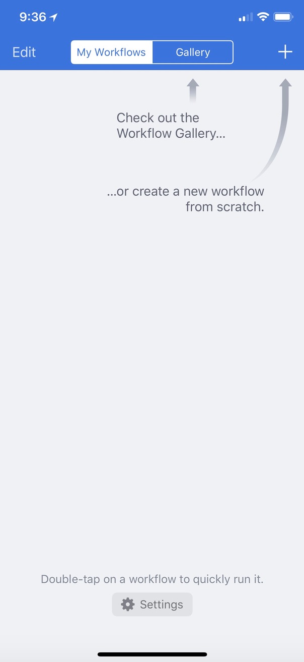 Plus Button in Workflow for creating a new workflow