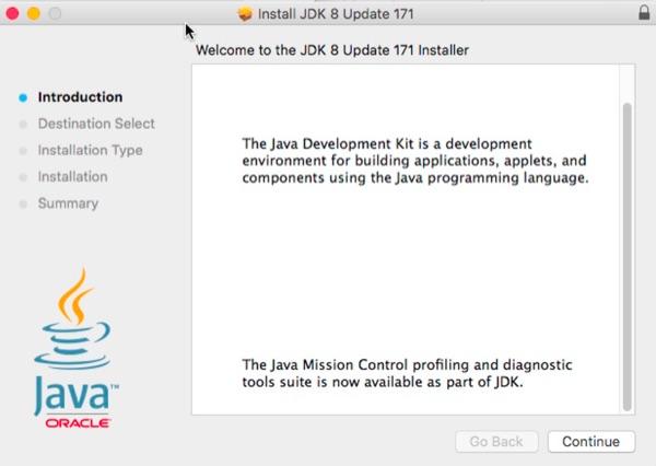 Java 8 installer.