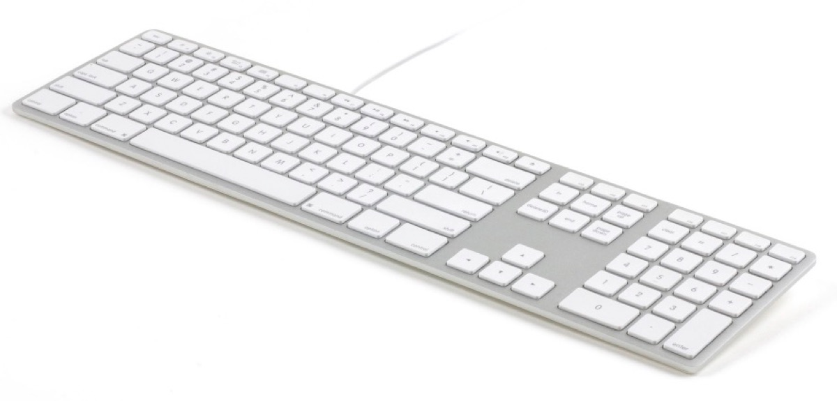 Matias Wired Aluminum Keyboard is Full Size, Backlit and