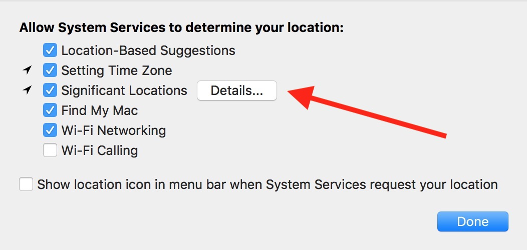 """Details"" Button for Significant Locations on the Mac"