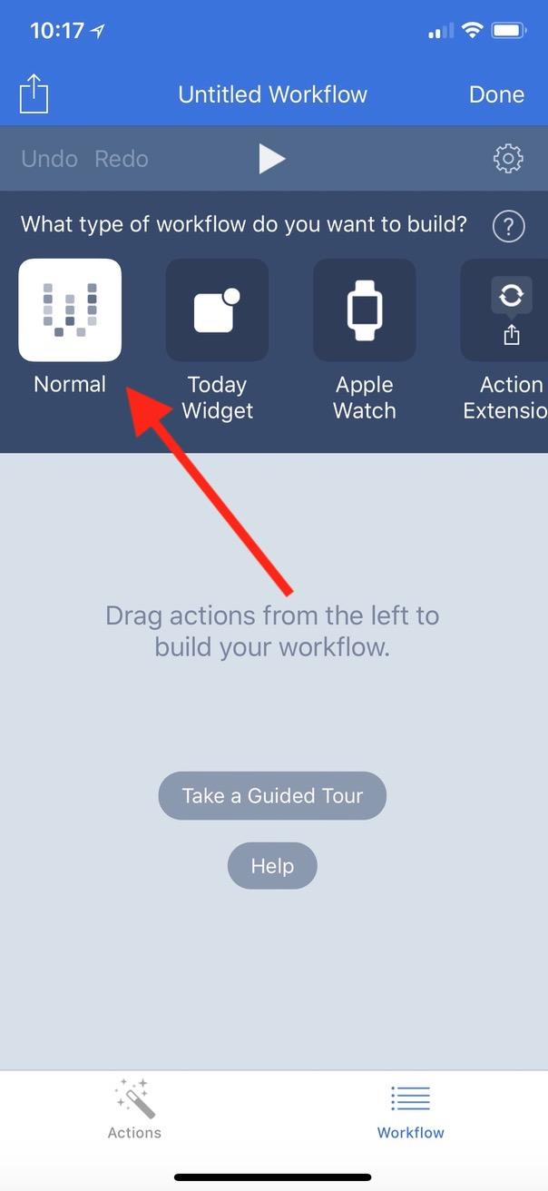 """Normal"" Workflow Type option in Workflow app"