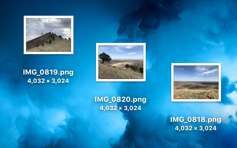 PNG Files converted from JPG in Preview on the Mac