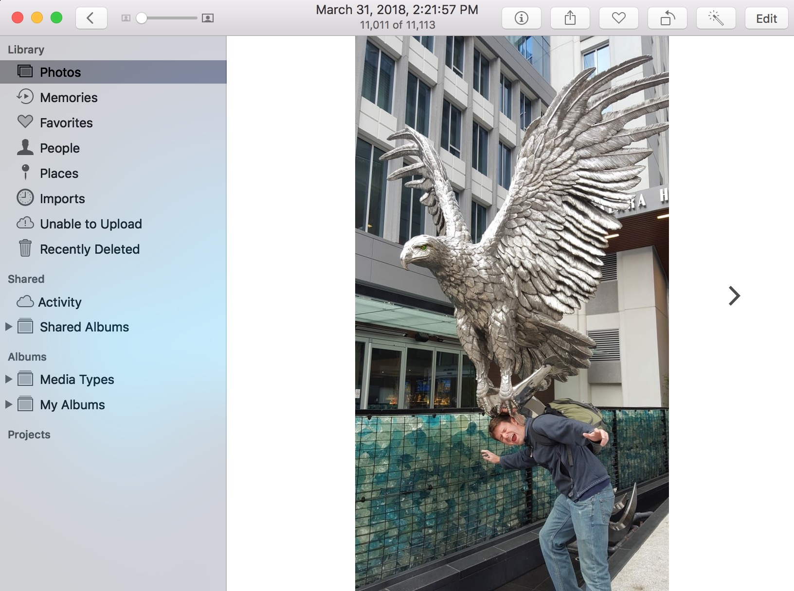 Image in Which Face Isn't Recognized in Photos on the Mac