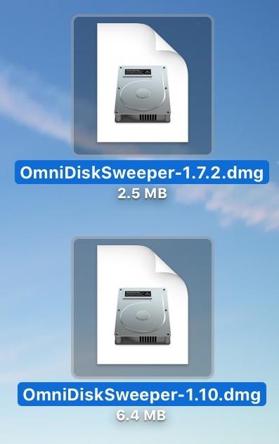 Selected Files on Desktop