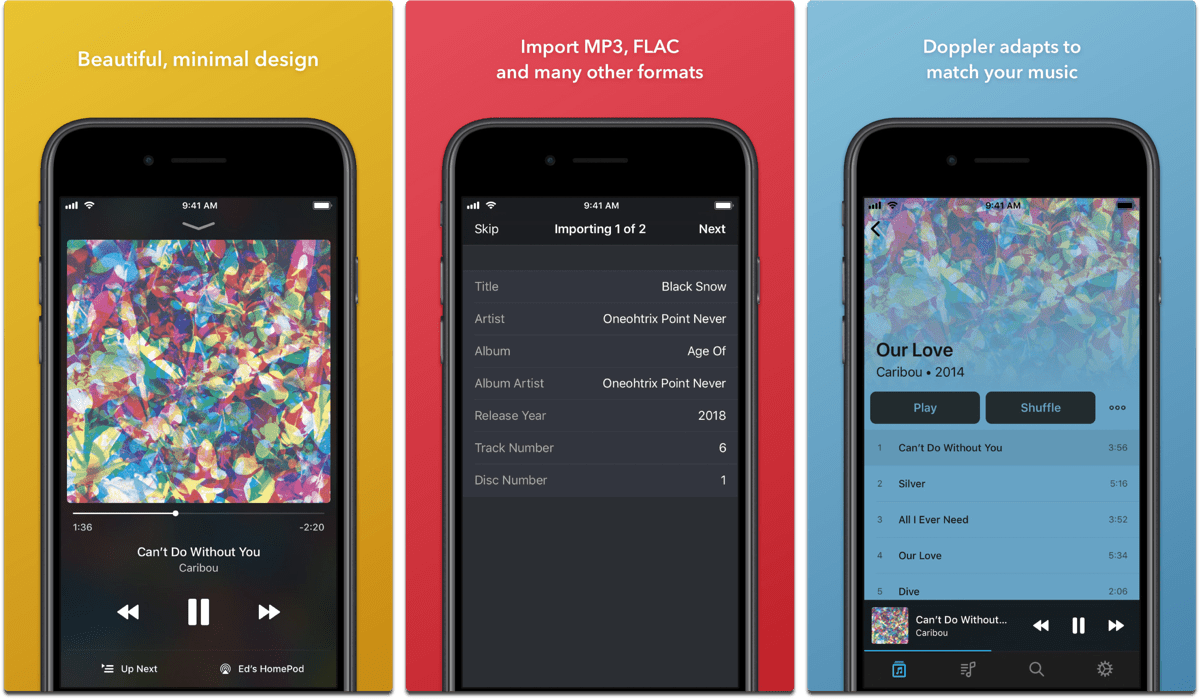 Doppler Music Player is an Alternative Music App for iOS
