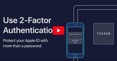 Screenshot from Apple 2FA Video