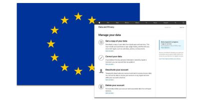 Apple's GDPR personal data request webpage