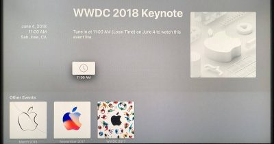 Apple TV Apple Events app for WWDC 2018 keynote