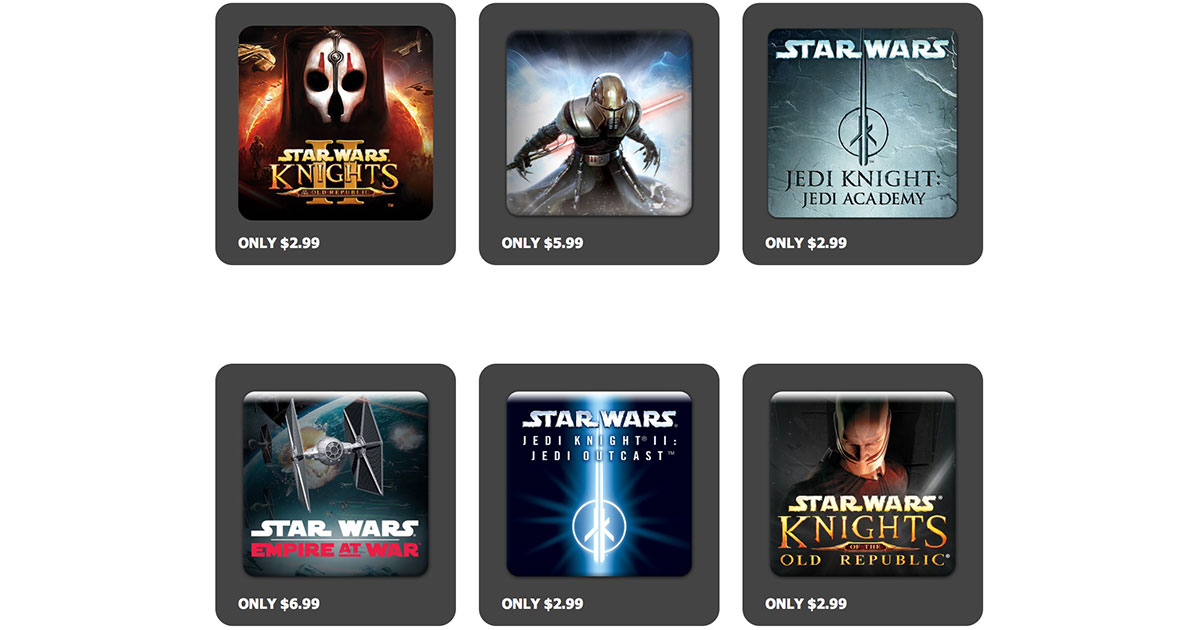 May the 4th: Aspyr Offers 66% Off Star Wars Games