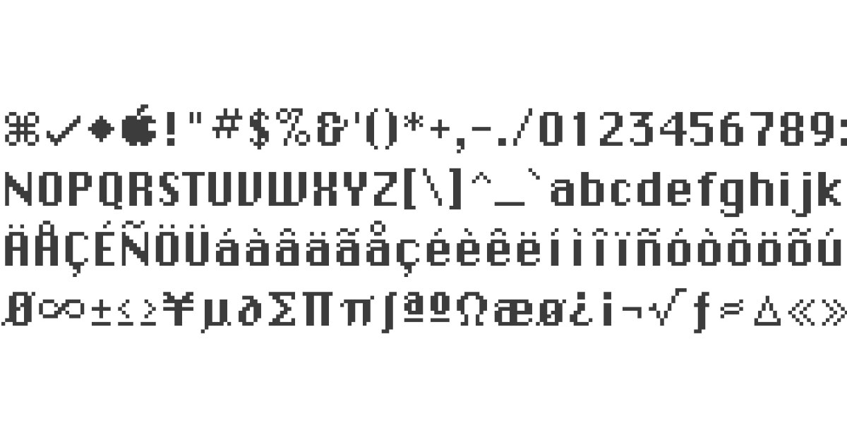 A Typographer Excavates Original Mac Fonts and Finds Hidden Characters