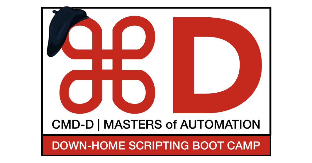 Sal Saghoian Launches CMD-D Down-Home Scripting Boot Camp