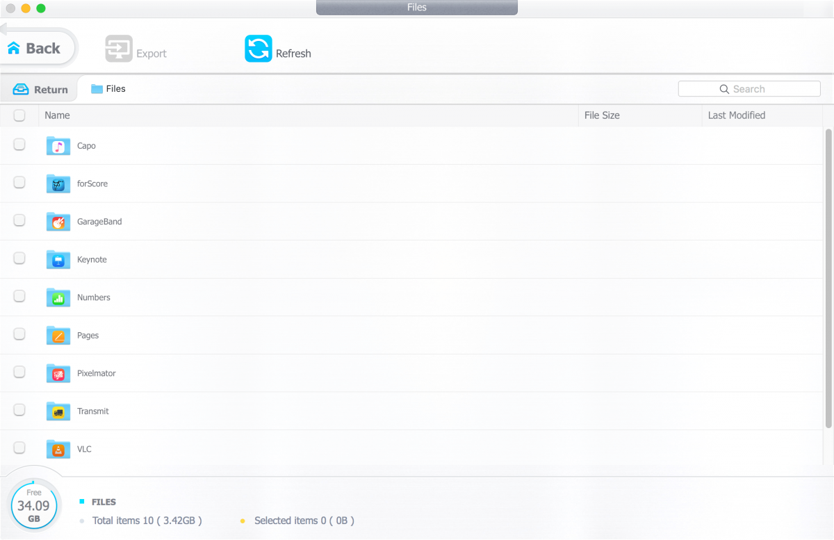 DearMob's file manager as shown on a Mac