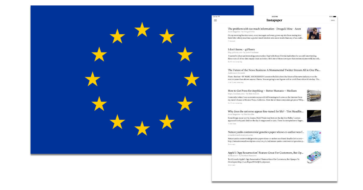 Instapaper shutting down in EU for GDPR