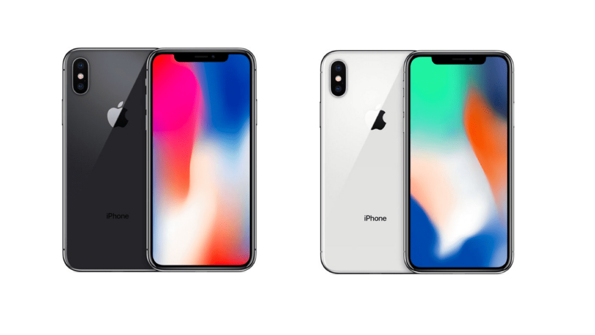 Image of iPhone X Super Retina display.