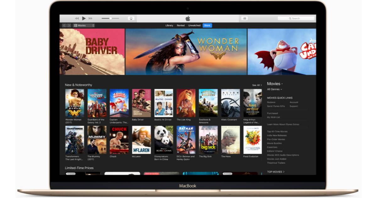iTunes on a MacBook