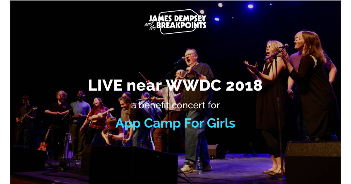Headed to WWDC? Get Your Tickets for the App Camp for Girls Fundraiser Concert