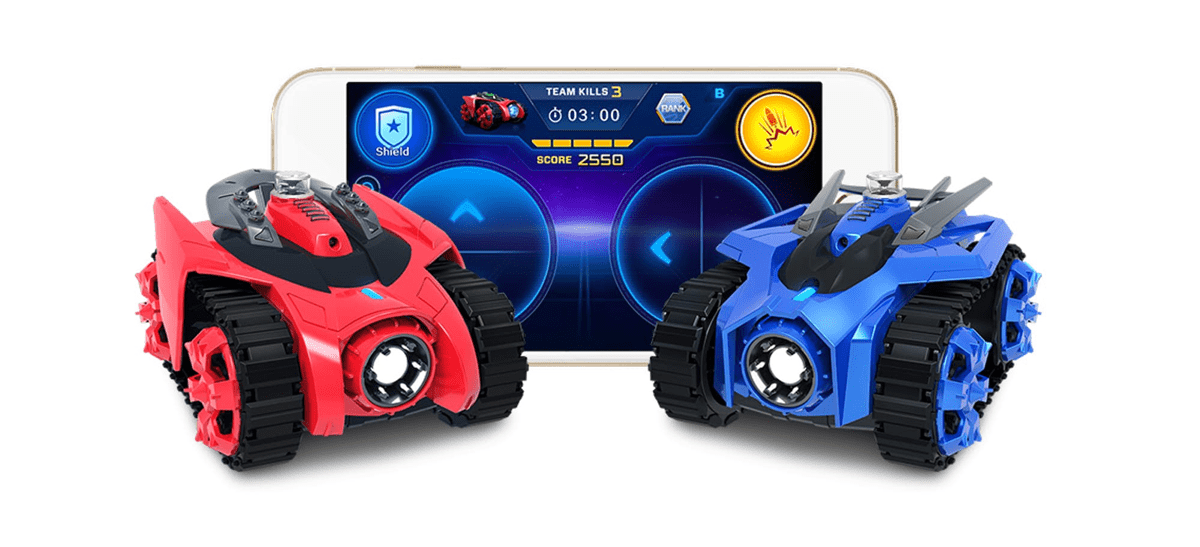 Image of Galaxy Zega battle tanks in our list of kid tech activities.