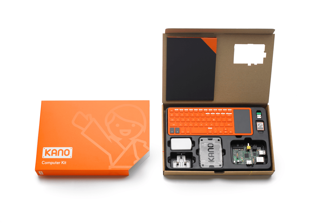 Image of Kano computer kit in our list of kid tech activities.