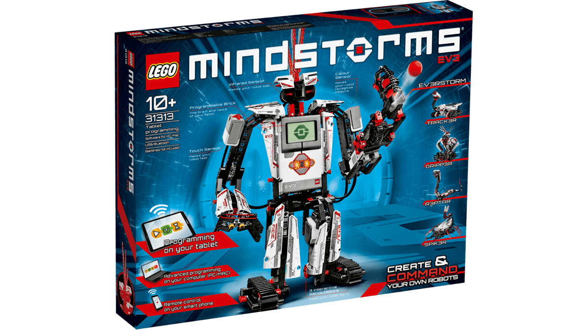Image of a Lego Mindstorms kit in our list of kid tech activities.
