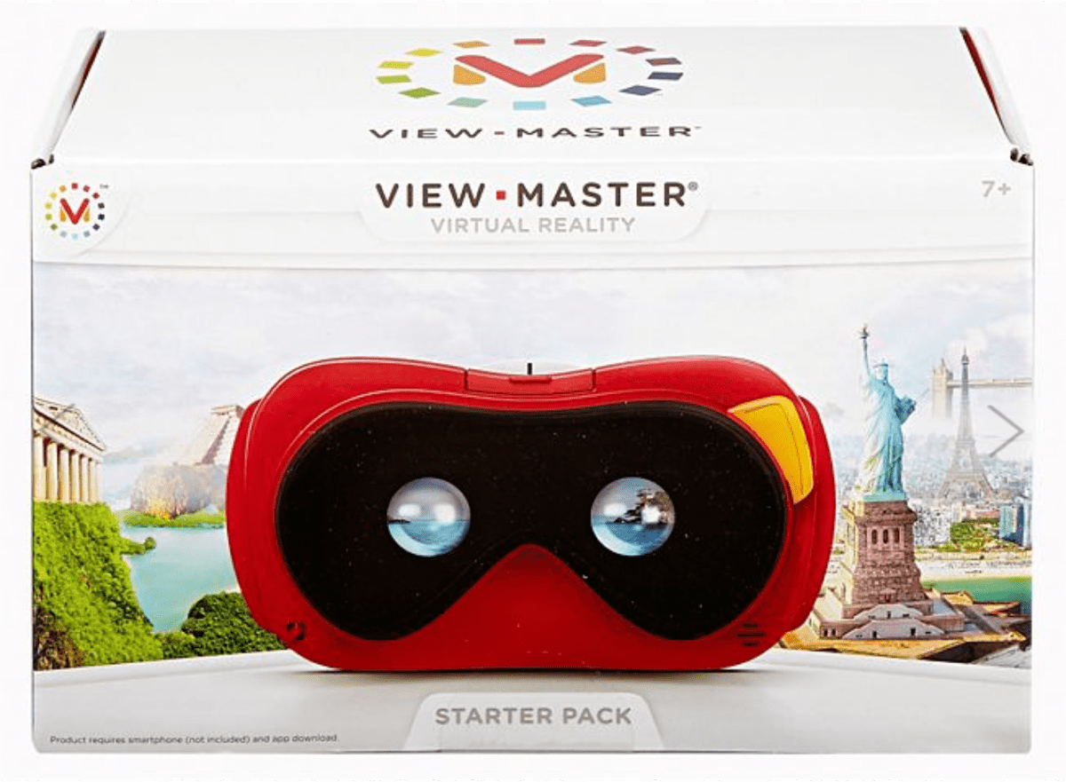 Image of the Mattel VR headset in our list of kid tech activities.