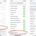 iOS 11 Significant Location settings