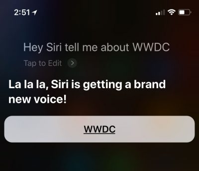 Siri's New Voice