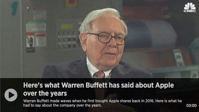 Warren Buffett on Apple - CNBC Compilation Video