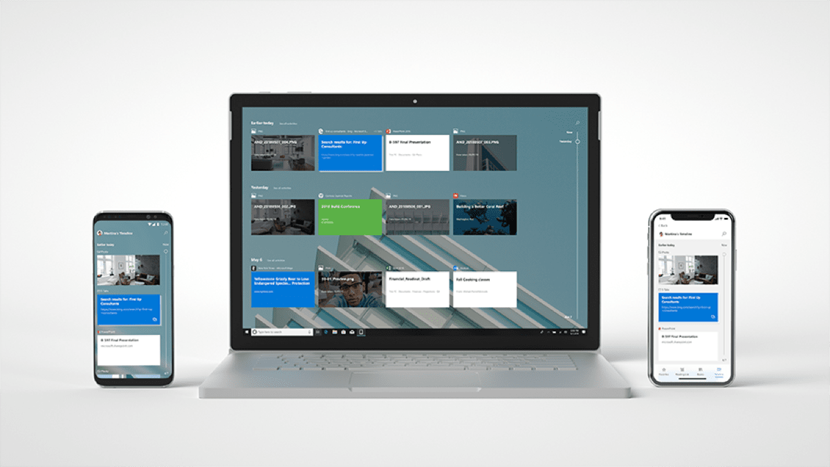 Microsoft Unveils Two Windows 10 iOS Apps at its Build Conference. Image of Timeline.