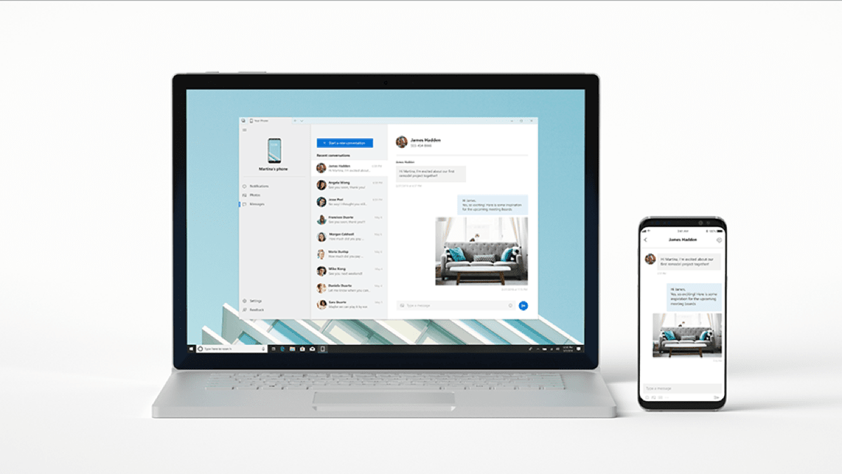 Microsoft Unveils Two Windows 10 iOS Apps at its Build Conference. Image of Your Phone app.