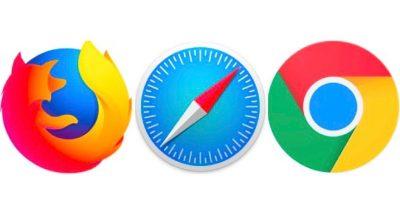 Firefox, Safari, Chrome