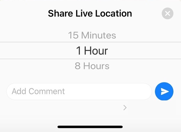 Select Duration of Location-Sharing in WhatsApp